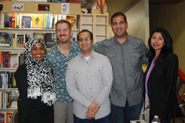 Salaam Love writers & editors (L to R): Nura Maznavi, Ibrahim Al-Marashi, Zain Omar, Ramy Eletreby, Ayesha Mattu