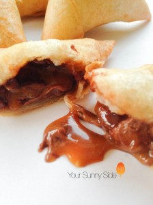 Chocolate & Caramel Samosa