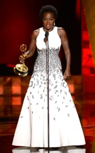 Viola Davis, the first African American woman to win the Emmy for best actress/drama